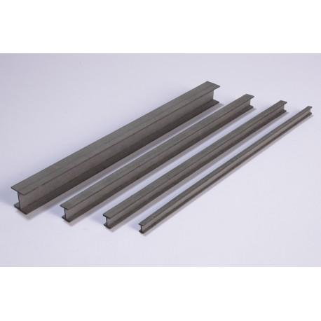 Poutrelle d'acier, 150 x 6 x 6 mm, 4 pièces Joswood JW40029 - MAKETIS