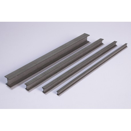 Steel girder, 150 x 6 x 6 mm, 4 pieces Joswood JW40029 - MAKETIS