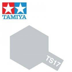 Bombe de peinture TS17 Aluminium brillant 100 ml Tamiya 85017 - Maketis