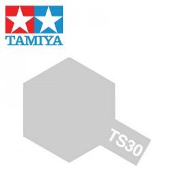 Bombe de peinture TS30 Feuille d'argent brillant 100 ml Tamiya 85030 - Maketis