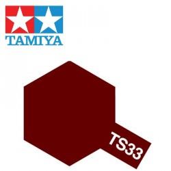 Bombe de peinture TS33 Rouge Mat 100 ml Tamiya 85033 - Maketis