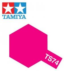 Bombe de peinture TS74 Rouge translucide 100 ml Tamiya 85074 - Maketis