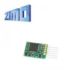 Décodeur miniature Zimo MX617 DCC 6 fonctions 6 broches NEM651 MX617N - Maketis