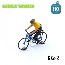 Cycliste homme VTT HO assemblé pour système Magnorail KKc-2