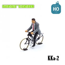 Cyclist man ready to run HO/OO for Magnorail System KKa-2