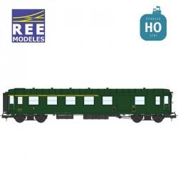 Voiture Métallisée ExPLM A4D feux de fin de convoi vert 306 SNCF EP IIIb HO REE VB-413 - Maketis