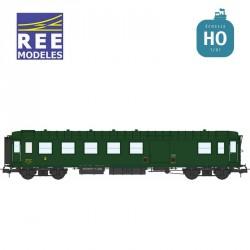 Voiture Métallisée ExPLM B4D feux de fin de convoi vert 306 SNCF EP IIIb HO REE VB-416 - Maketis