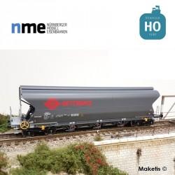 Wagon céréalier Tagnpps 101m3 ERMEWA gris Ep VI HO NME 512625