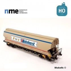 Wagon céréalier Tagnpps 102m3, Bohnhorst beige EP VI HO NME 507608