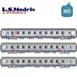 Set 3 voitures Corail VTU TER PACA Ep.V-VI SNCF HO LS Models 41203 - Maketis
