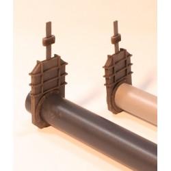 Slide, 3 pieces incl. 1 set of flange rivets