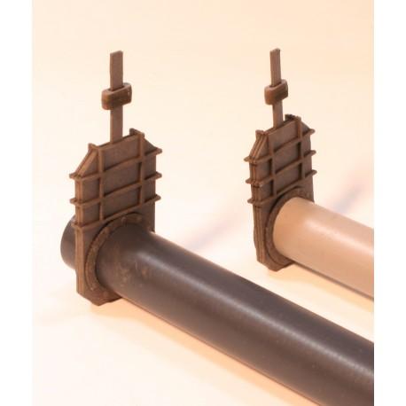 Vanne, 3 pièces 16 mm incluant brides à rivets JW40072 Joswod - MAKETIS