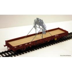 """Brise glace pour Tunnel """"SIOUX"""" à installer sur un wagon plat OCEM ou K50"""