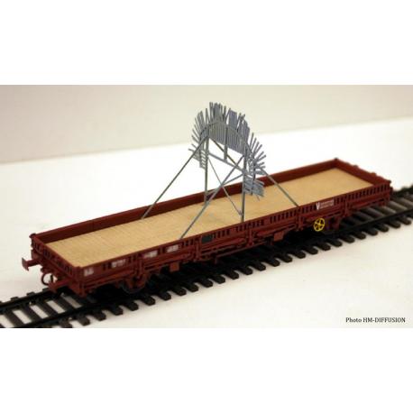 """Brise glace pour Tunnel """"SIOUX"""" à installer sur un wagon plat OCEM"""