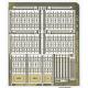 Porte (11 mm) et portail (31 mm) en fer forgé ouvragé + 4 grilles de 38 mm