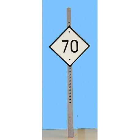 Panneau fixe Limitation de vitesse supérieur à 40 km/h