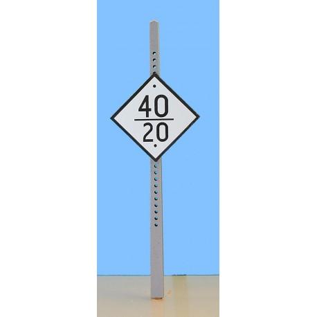 Panneau fixe Limitation de vitesse mobile