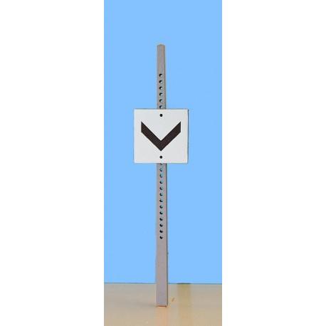 Panneau fixe Pointe en bas ( aiguille en pointe) en haut aiguille avec limitation de vitesse