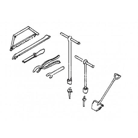 Eisenbahner-Werkzeuge Spur H0 Weinert 3222