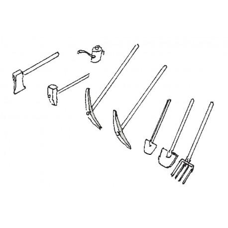 Gleisbau-Werkzeuge Spur H0 Weinert 3223