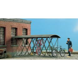 Abris pour 12 vélos suspendus. (Echelle HO)