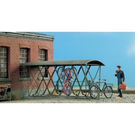 Abris pour 12 vélos suspendus. HO Weinert 3236