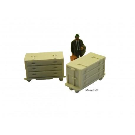 4 Petits containers de 1m3 catégorie A