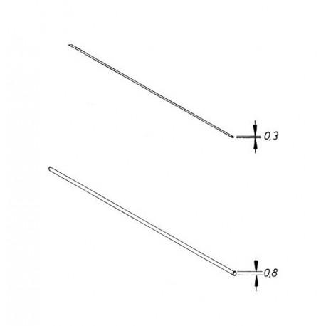 Fil d'acier dur dressé (corde à piano, 10 pièces)