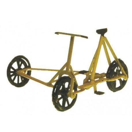 Railtrolley à 3 roues jaune, peint et assemblé