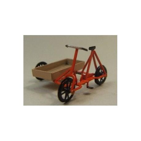 Railtrolley à 3 roues orange, peint et assemblé