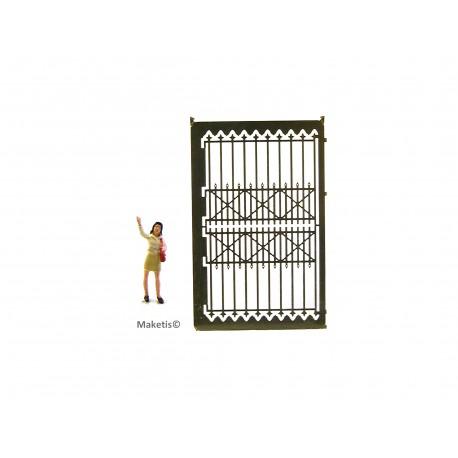Clôture fonte avec porte, kit