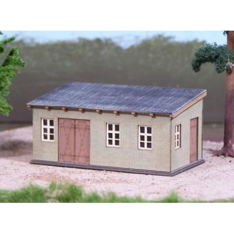 Cabane avec toit plat