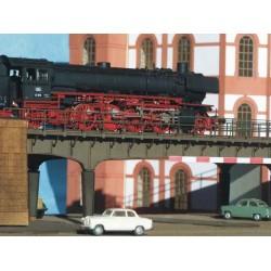 Pont ferroviaire métallique 1 seul ensemble