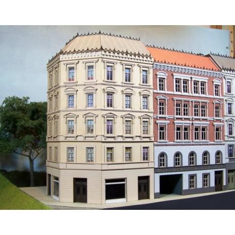Maison de ville avec retour en angle, style origine