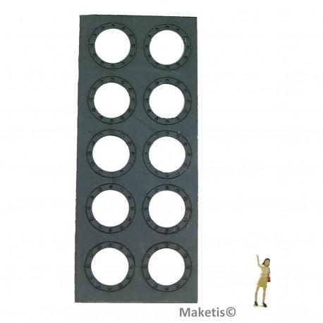 Flanschringe Löcher 14 mm (10 Stücke) Joswood JW40004 - MAKETIS