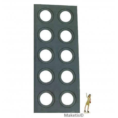 Flanschringe Nieten 12,4 mm (10 Stücke) Joswood JW40005 - MAKETIS
