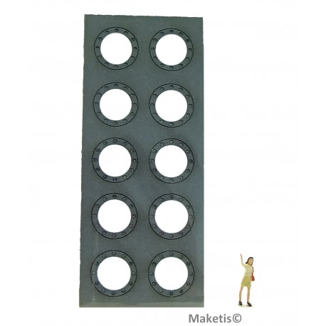 Flanschringe Löcher 12,4 mm (10 Stücke) Joswood JW40006 - MAKETIS