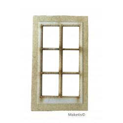 Fenêtre droite avec vitre