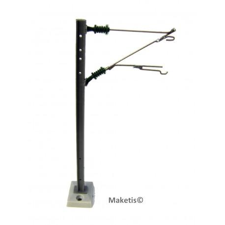 Poteau pour caténaire 25000 volts DR20A ou DR20B monté