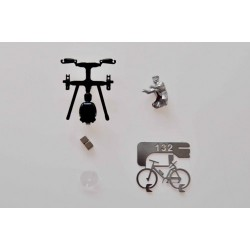 Hybrid cyclist man kit, HO/OO for Magnorail System MR133.1 - MAKETIS