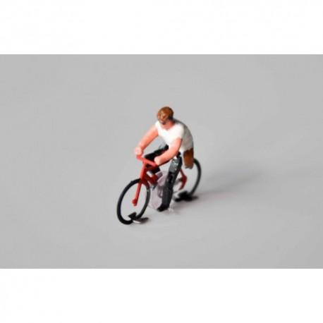 Ready-made hybrid cyclist man, HO/OO for Magnorail System MR136.1 - MAKETIS