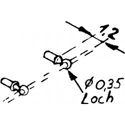 Support de rambarde (20 pièces), HO Weinert 8465