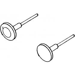 Tampons, 2 arrondis et 2 plats, d 4,3 mm, HO Weinert 8612