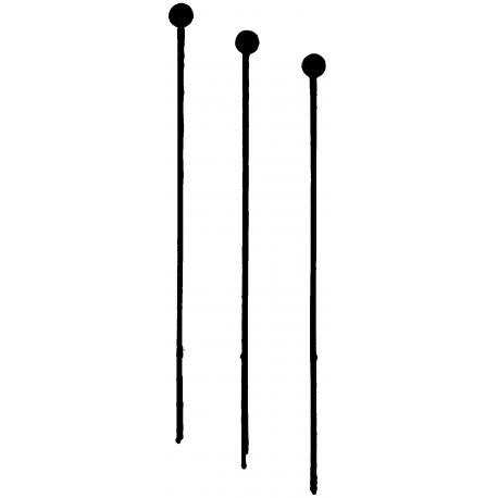 Mains montoires superfines Weinert, 10 pièces. Tête de 0,3 mm