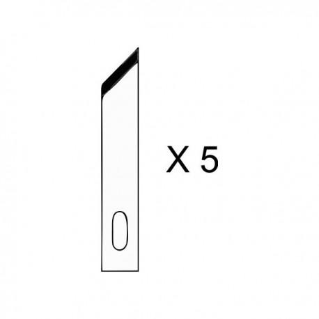 Set de 5 lames pour couteau de précision n°1