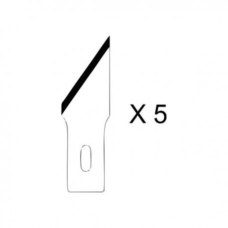 Set de 5 lames pour couteau de précision n°2