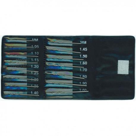 Set de 15 forets HSS Holi 1,05 à 2mm