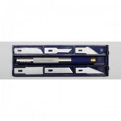 Coffret couteau de précision N°2 Holi avec manche antidérapant et 6 lames