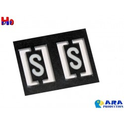 SNCF 2 plaques S [HO] - MAKETIS