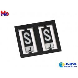 SNCF 2 plaques S et J [HO]